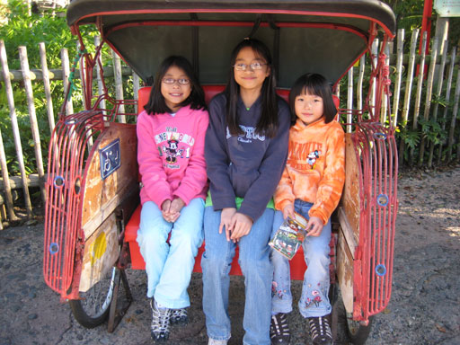 Katie, Marissa and Claire, at Animal Kingdom December 2008