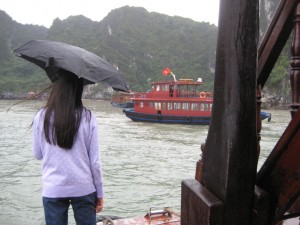 Boat ride on Halong Bay