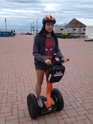 Marissa on a Segway